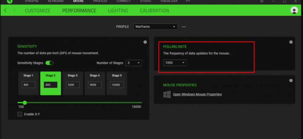 How to change mouse poling rate